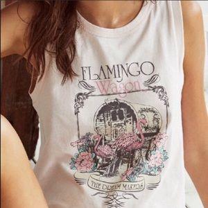Spell Flamingo Wagon tank top muscle tee medium